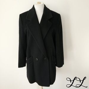 Vintage Forecaster Boston Coat Overcoat Black Wool